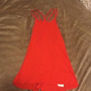 Red strapy tank top